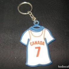 Coleccionismo deportivo: CANADA LLAVERO DE DANONE MUNDO BASKET ESPAÑA 1986. Lote 143909718