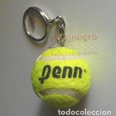 Collectionnisme sportif: LLAVERO - PELOTA DE TENIS PEQUEÑA - PUBLICIDAD PENN - PELOTITA MINIATURA - BOLA BOLITA - DEPORTE. Lote 144991770