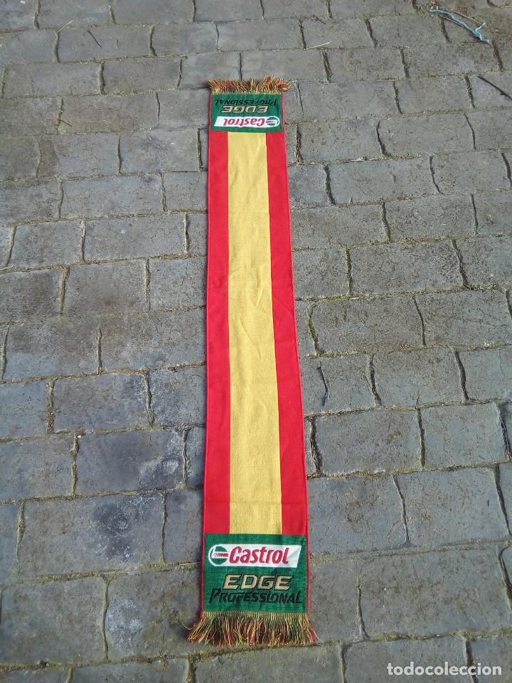BUFANDA DE ESPAÑA CON PUBLICIDAD CASTROL (Coleccionismo Deportivo - Merchandising y Mascotas - Otros deportes)