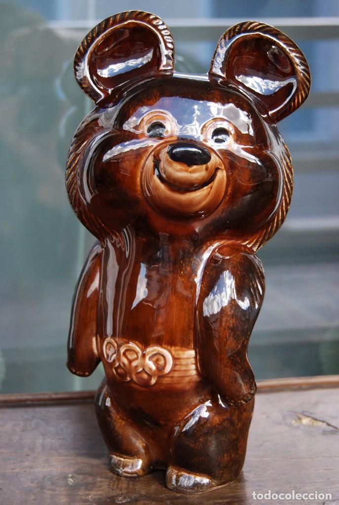 Coleccionismo deportivo: Mascota olímpica oso MISHKA de porcelana Juegos Olímpicos de 1980 en Moscú Ternopil URSS Porzell - Foto 2 - 147938930