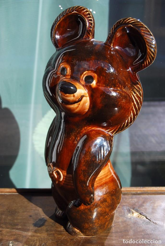 Coleccionismo deportivo: Mascota olímpica oso MISHKA de porcelana Juegos Olímpicos de 1980 en Moscú Ternopil URSS Porzell - Foto 3 - 147938930