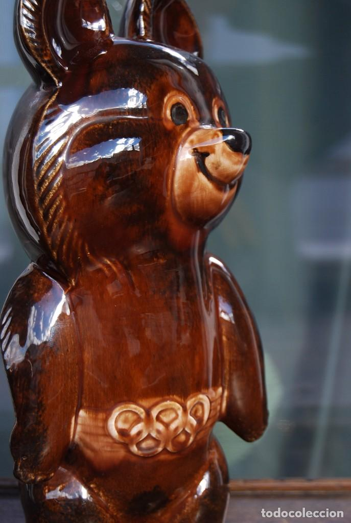 Coleccionismo deportivo: Mascota olímpica oso MISHKA de porcelana Juegos Olímpicos de 1980 en Moscú Ternopil URSS Porzell - Foto 4 - 147938930