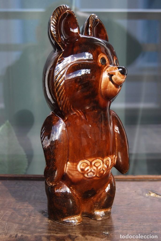 Coleccionismo deportivo: Mascota olímpica oso MISHKA de porcelana Juegos Olímpicos de 1980 en Moscú Ternopil URSS Porzell - Foto 6 - 147938930