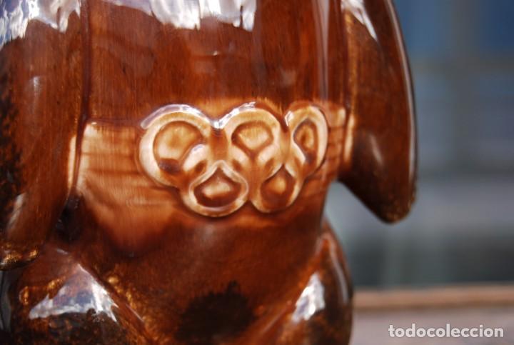 Coleccionismo deportivo: Mascota olímpica oso MISHKA de porcelana Juegos Olímpicos de 1980 en Moscú Ternopil URSS Porzell - Foto 7 - 147938930