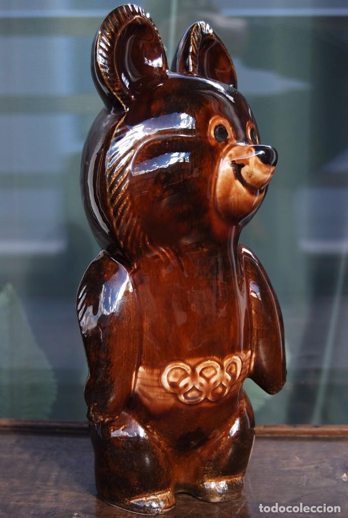 Coleccionismo deportivo: Mascota olímpica oso MISHKA de porcelana Juegos Olímpicos de 1980 en Moscú Ternopil URSS Porzell - Foto 10 - 147938930