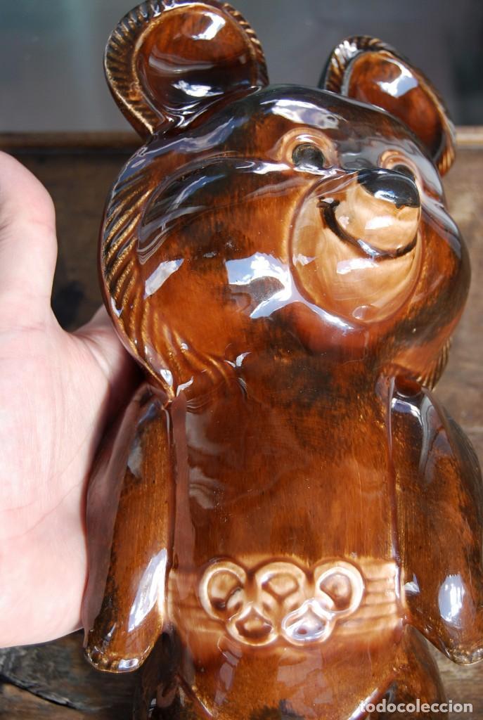 Coleccionismo deportivo: Mascota olímpica oso MISHKA de porcelana Juegos Olímpicos de 1980 en Moscú Ternopil URSS Porzell - Foto 12 - 147938930