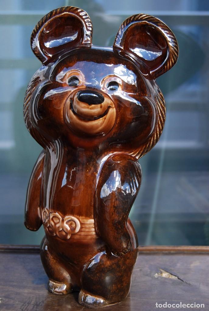 Coleccionismo deportivo: Mascota olímpica oso MISHKA de porcelana Juegos Olímpicos de 1980 en Moscú Ternopil URSS Porzell - Foto 13 - 147938930