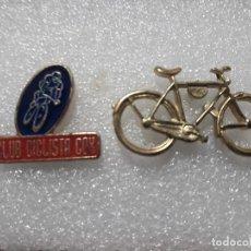 Coleccionismo deportivo: LOTE 2 PIN CICLISMO BICICLETA Y PEÑA CICLISTA COX DEPORTES PINS PINES. Lote 152070794