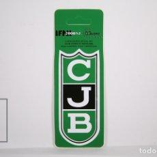 Coleccionismo deportivo: PEGATINA / ADHESIVO DE BALONCESTO - CLUB JUVENTUD BADALONA - CJB. Lote 153173232