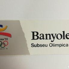 Coleccionismo deportivo: PEGATINA - OLIMPIADA 92. Lote 153266400
