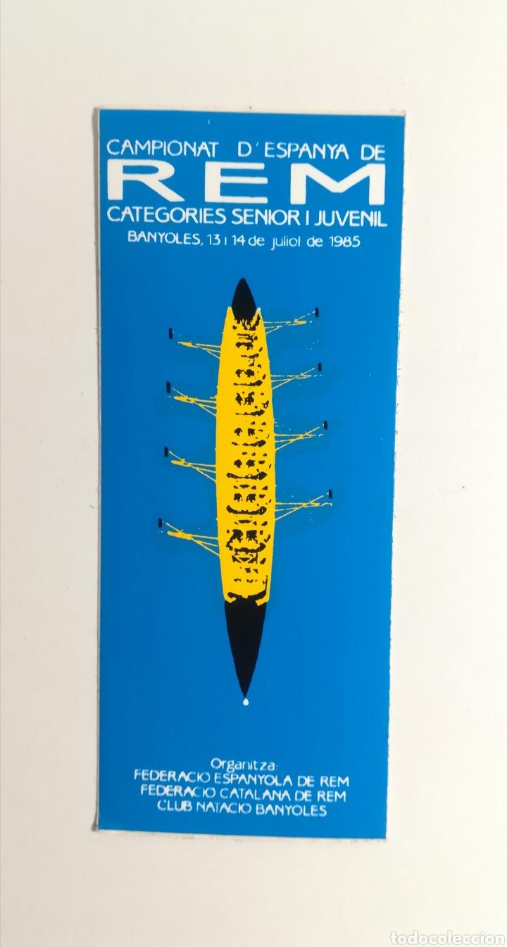 PEGATINA - MUNDIAL DE REMO DE 1985 (Coleccionismo Deportivo - Merchandising y Mascotas - Otros deportes)