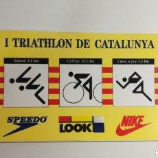 Coleccionismo deportivo: PEGATINA - 1 TRIATHLON DE CATALUNYA. Lote 153384941