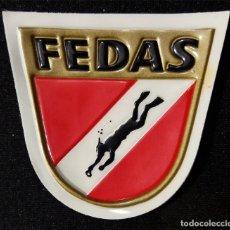 Coleccionismo deportivo: PARCHE FEDAS PLATIFICADO. Lote 195424480