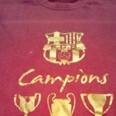 Coleccionismo deportivo: CAMISETA CONMEMORATIVA FC BARCELONA 2008/2009 GANADORES COPA, LIGA Y CHAMPIONS . Lote 155472814