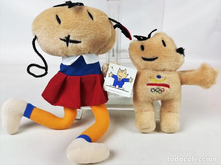COBI Y PETRA. JUEGOS OLÍMPICOS Y PARALÍMPICOS. JAVIER MARISCAL. BARCELONA 1992 (Coleccionismo Deportivo - Merchandising y Mascotas - Otros deportes)