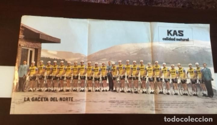 ANTIGUO PÓSTER EQUIPO KAS TOUR DE FRANCIA 1973 (Coleccionismo Deportivo - Merchandising y Mascotas - Otros deportes)