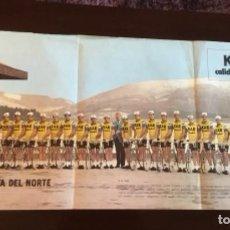 Coleccionismo deportivo: ANTIGUO PÓSTER EQUIPO KAS TOUR DE FRANCIA 1973. Lote 157959182