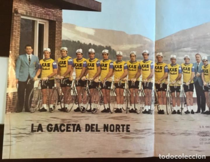 Coleccionismo deportivo: Antiguo póster equipo Kas Tour de Francia 1973 - Foto 2 - 157959182