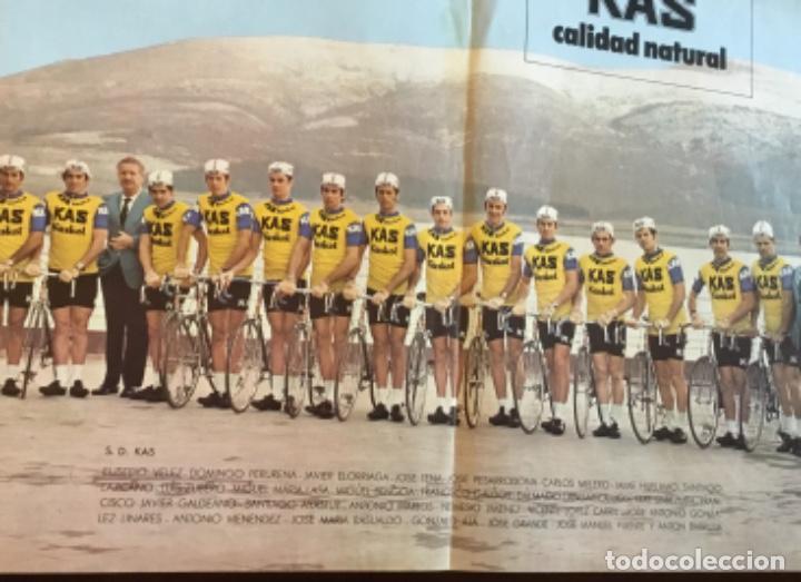 Coleccionismo deportivo: Antiguo póster equipo Kas Tour de Francia 1973 - Foto 3 - 157959182