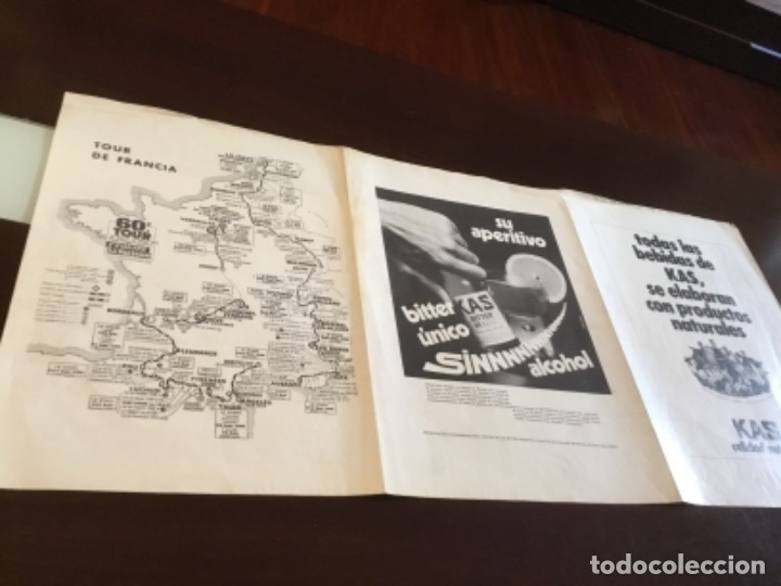 Coleccionismo deportivo: Antiguo póster equipo Kas Tour de Francia 1973 - Foto 4 - 157959182
