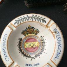 Coleccionismo deportivo: CENICERO TIRO OLIMPICO. Lote 159904282