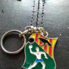 Coleccionismo deportivo: LLAVERO HANDBOL GRANOLLERS BALONMANO CAMPEONATO EUROPA VETERANOS 2005. Lote 161551974