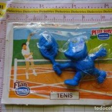 Coleccionismo deportivo: GOMA DE BORRAR COBI TENIS TENISTA JUEGOS OLÍMPICOS BARCELONA 92 1992. FLAN PETIT SUISSE DANONE. 20GR. Lote 171606928