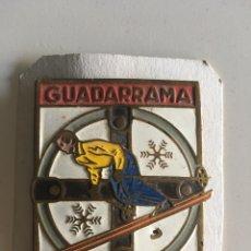 Coleccionismo deportivo: ANTIGUA CHAPA INSIGNIA GUADARRAMA 5CM. Lote 172452432