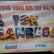 Coleccionismo deportivo: PINS TDK MANRESA. Lote 172636119