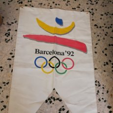 Coleccionismo deportivo: INCREÍBLE PANCARTA LONA JUEGOS OLÍMPICOS BARCELONA 92, 162X90CM. DIFÍCIL!!!.. Lote 173451893