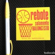Coleccionismo deportivo: PEGATINA ORIGINAL AÑOS 70 REBOTE SOLAMENTE BALONCESTO AÑOS 70 ESPAÑA SIN USAR MARAVILLA COLECCION. Lote 174369700
