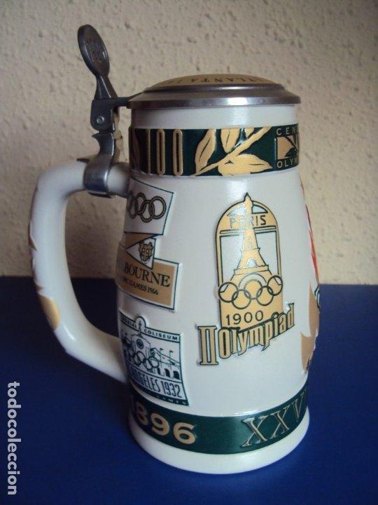 (F-190901)JARRA DE CERVEZA OLIMPIADAS NUMERADA (Coleccionismo Deportivo - Merchandising y Mascotas - Otros deportes)