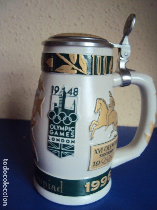 Coleccionismo deportivo: (F-190901)JARRA DE CERVEZA OLIMPIADAS NUMERADA - Foto 4 - 175760994