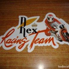 Coleccionismo deportivo: (ALB-TC-150) PEGATINA RACING TEAM REX VER FOTOS. Lote 175949935