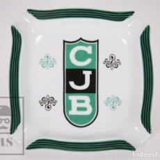 Coleccionismo deportivo: CENICERO DE CERÁMICA VIDRIADA - CLUB JOVENTUT DE BADALONA / CJB - BALONCESTO. Lote 176555025