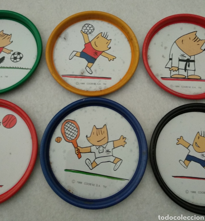 Coleccionismo deportivo: Antiguos posavasos cobi mascota olimpiadas Barcelona 1992 - Foto 3 - 177614643