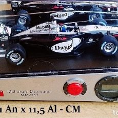 Coleccionismo deportivo: CARRERA SOUND OF MOTORS RELOJ DIGITAL Y ALARMA MCLAREN MERCEDES MP4 17 DAVID. Lote 177878453