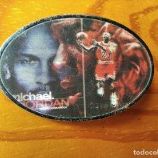 Coleccionismo deportivo: MICHAEL JORDAN - HEBILLA DE CINTURON DE METAL HOLOGRAFICA ORIGINAL 80'S. Lote 182865316
