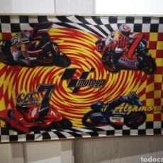 Coleccionismo deportivo: BANDERA MOTOGP AÑO 2000 ALZAMORA, CHECA, GIBERNAU, CRIVILLE 115X75. Lote 183850510