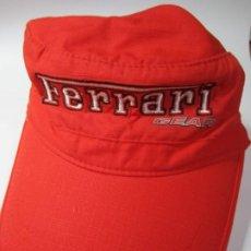 Coleccionismo deportivo: GORRA FERRARI POWERED BY V8 PRODUTO OFICIAL. Lote 184294722