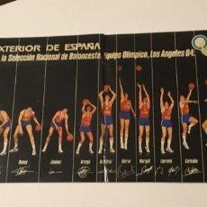 Coleccionismo deportivo: TARJETA BANCO EXTERIOR DE ESPAÑA PATROCINADOR DE LA SELECCIÓN NACIONAL DE BALONCESTO LOS ÁNGELES 84. Lote 189702687
