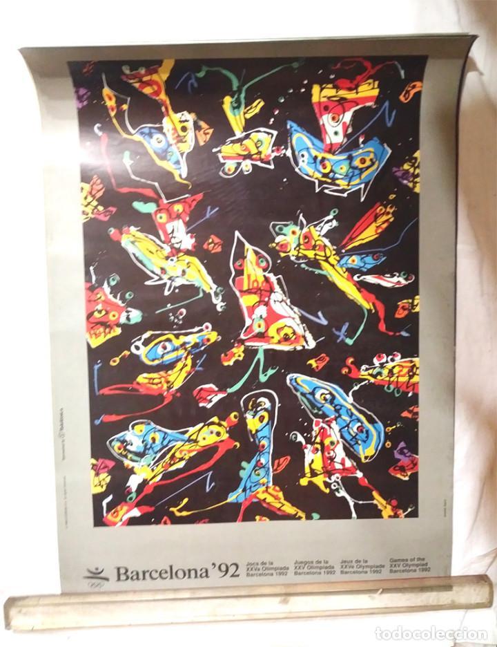 ANTONIO SAURA CARTEL PROMOCION ORIGINAL OLIMPIADAS BARCELONA 92. MED. 50 X 70 CM (Coleccionismo Deportivo - Merchandising y Mascotas - Otros deportes)