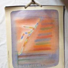 Coleccionismo deportivo: JEAN MICHEL FOLON CARTEL PROMOCION ORIGINAL OLIMPIADAS BARCELONA 92. MED. 50 X 70 CM. Lote 190312226
