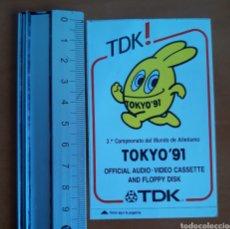 Coleccionismo deportivo: PEGATINA DE CAMPEONATO DEL MUNDO ATLETISMO TOKYO 1991. Lote 191252378