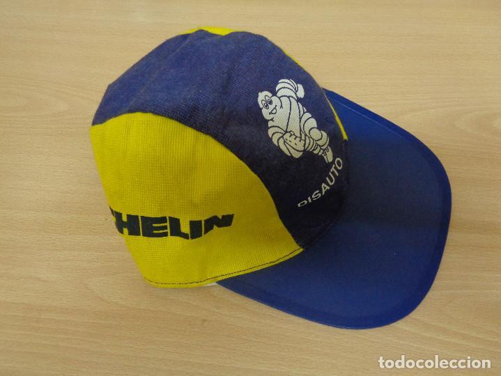 Coleccionismo deportivo: Antigua gorra de tela con visera rígida Michelin Bibendum. A estrenar - Foto 2 - 193746097