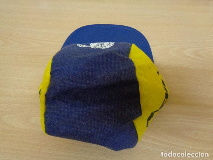 Coleccionismo deportivo: Antigua gorra de tela con visera rígida Michelin Bibendum. A estrenar - Foto 3 - 193746097