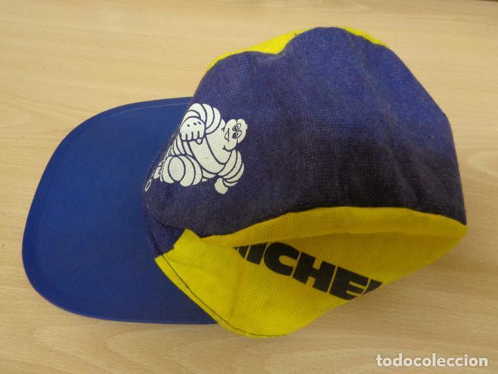 Coleccionismo deportivo: Antigua gorra de tela con visera rígida Michelin Bibendum. A estrenar - Foto 4 - 193746097