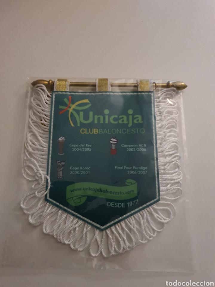 BANDERIN BALONCESTO UNICAJA DE MALAGA (Coleccionismo Deportivo - Merchandising y Mascotas - Otros deportes)