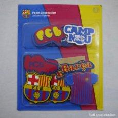 Coleccionismo deportivo: FUTBOL CLUB BARCELONA - BLISTER 20 PIEZAS DECORATIVAS DE FOAM - PRECINTADO. Lote 195042268