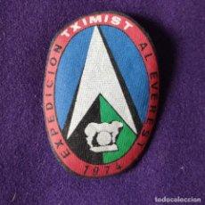 Colecionismo desportivo: PARCHE PEGATINA DE TELA. EXPEDICIÓN TXIMIST AL EVEREST. 1974.. Lote 197443827